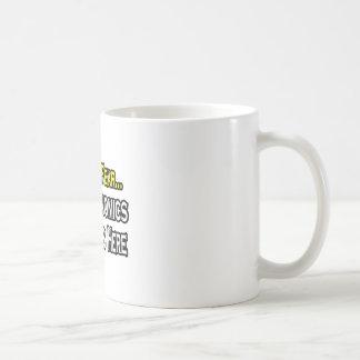 No tenga ningún miedo, el profesor de la economía  tazas de café