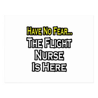 No tenga ningún miedo, la enfermera del vuelo está postal
