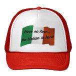 No tenga ningún miedo que el italiano está aquí gorros bordados