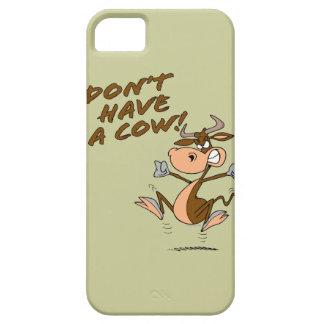 no tenga un dibujo animado chistoso de la vaca de iPhone 5 carcasa