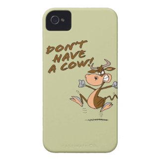 no tenga un dibujo animado chistoso de la vaca de iPhone 4 Case-Mate cárcasas