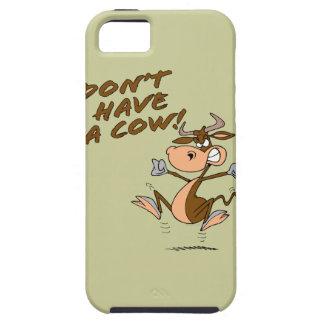 no tenga un dibujo animado chistoso de la vaca de iPhone 5 carcasas