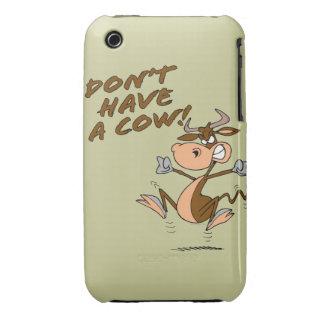 no tenga un dibujo animado chistoso de la vaca de iPhone 3 cobreturas