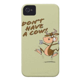 no tenga un dibujo animado chistoso de la vaca de Case-Mate iPhone 4 protector