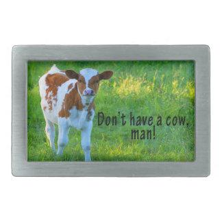 No tenga una vaca hebilla de cinturón rectangular