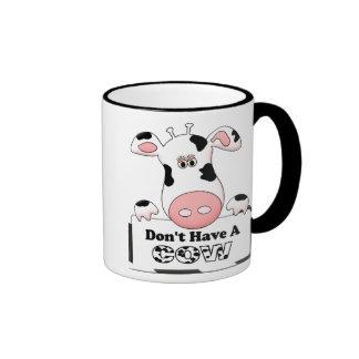 No tenga una vaca taza de café