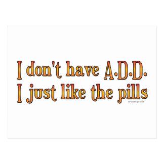 No tengo A.D.D. - I apenas como las píldoras Postales
