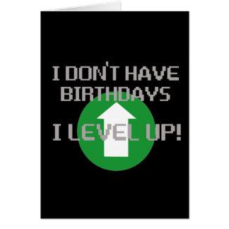 No tengo cumpleaños… tarjeton