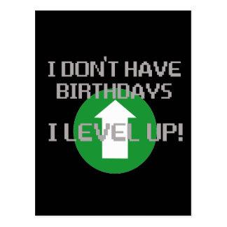 No tengo cumpleaños… tarjetas postales
