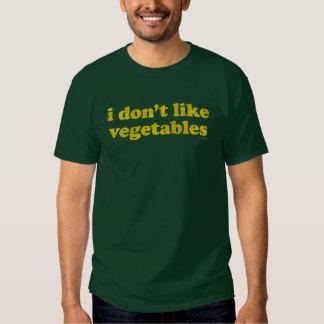 No tengo gusto de la camisa de las verduras
