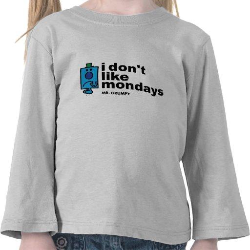 No tengo gusto de lunes camiseta