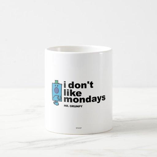 No tengo gusto de lunes taza