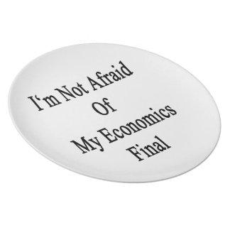No tengo miedo de mi final de la economía