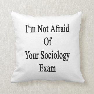 No tengo miedo de su examen de la sociología cojines