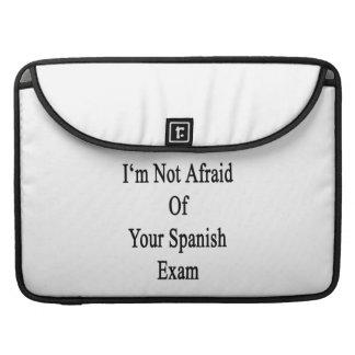 No tengo miedo de su examen español fundas para macbook pro
