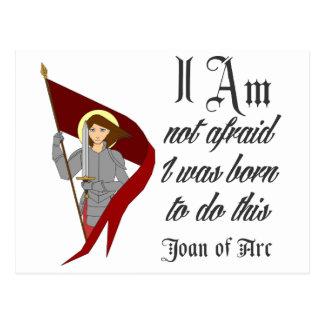 No tengo miedo - Juana de Arco Postales