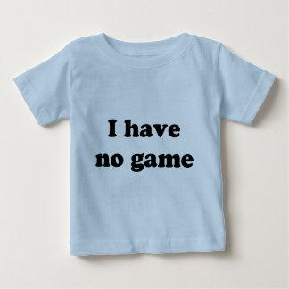 No tengo ningún juego playera de bebé