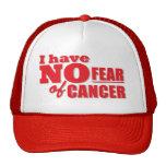 No tengo ningún miedo del cáncer gorro