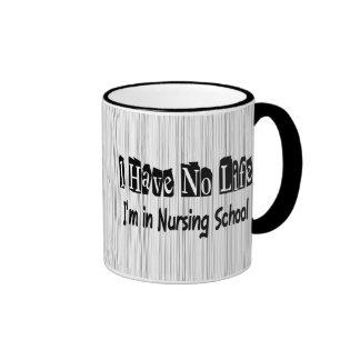 No tengo ninguna escuela de enfermería divertida taza a dos colores