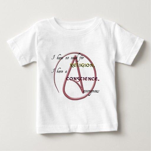 No tengo ninguna necesidad de la religión con camisetas