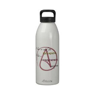 No tengo ninguna necesidad de la religión con símb botellas de beber