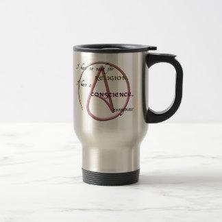 No tengo ninguna necesidad de la religión con símb taza de café