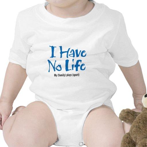 No tengo ninguna vida (azul) traje de bebé