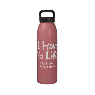 No tengo ninguna vida botellas de beber