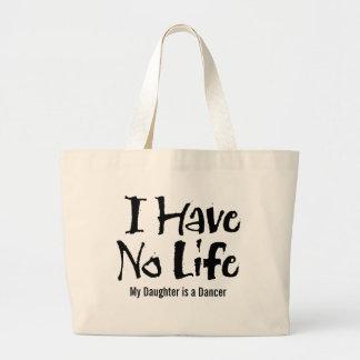 No tengo ninguna vida (el negro) bolsa tela grande