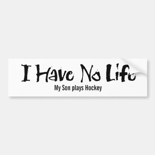 No tengo ninguna vida (el negro) pegatina de parachoque
