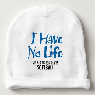 No tengo ninguna vida (el softball) gorrito para bebe