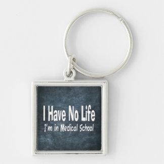 No tengo ninguna vida Im en la Facultad de Llavero Cuadrado Plateado