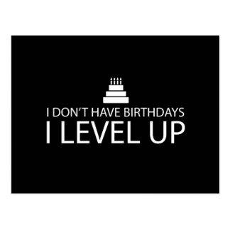 No tengo nivel de los cumpleaños I para arriba Postales