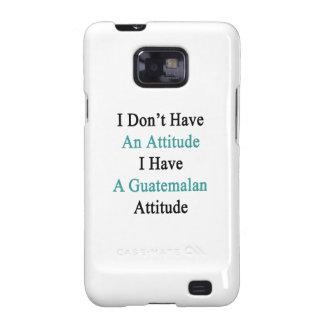 No tengo una actitud que tengo un Attit Galaxy SII Carcasa