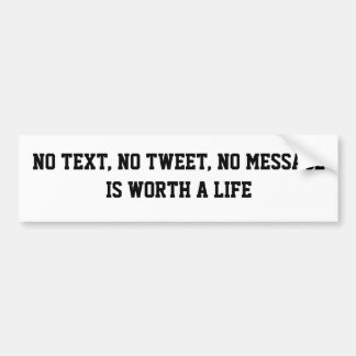 No Text Car Bumper Sticker