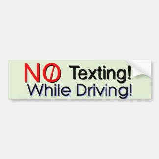 No Texting Bumper Sticker
