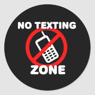 No Texting Zone Sticker