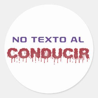No Texto al Conducir Sticker