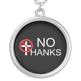No Thanks To Religion Silver Plated Necklace