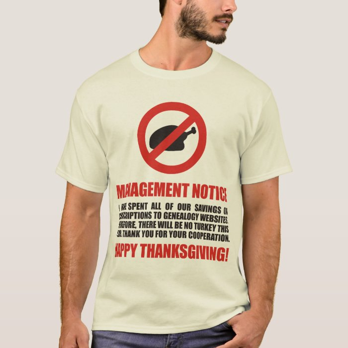 No Thanksgiving Turkey T-Shirt