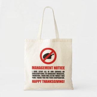 No Thanksgiving Turkey Tote Bag