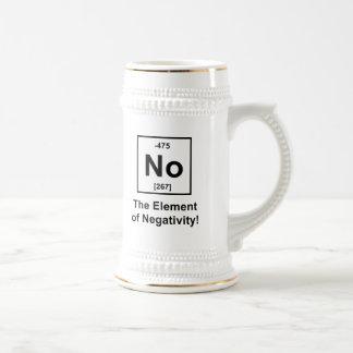No, The Element of Negativity Beer Stein