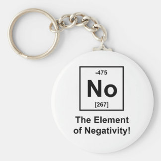 No, The Element of Negativity Keychain