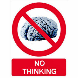 No Thinking Allowed Photo Sculpture