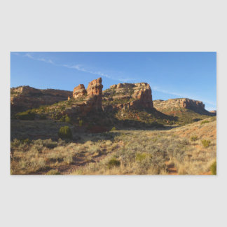 No Thoroughfare Canyon Colorado National Monument Rectangular Sticker