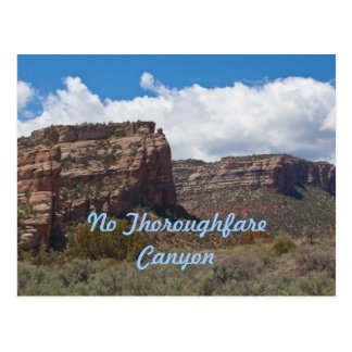 No Thoroughfare Canyon in the Colorado Ntl. Mnt. Postcard