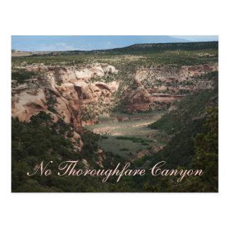 No Thoroughfare Canyon Postcard