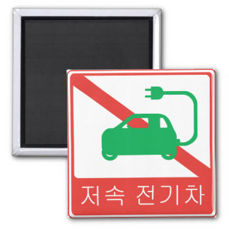 NO Thoroughfare for NEVs Korean Traffic Sign Magnet
