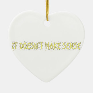 no tiene sentido adorno navideño de cerámica en forma de corazón