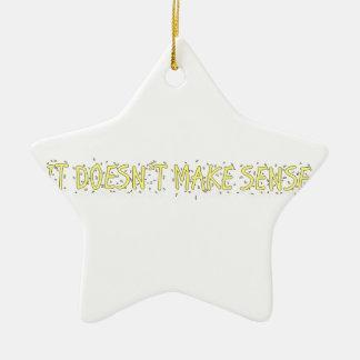 no tiene sentido adorno navideño de cerámica en forma de estrella